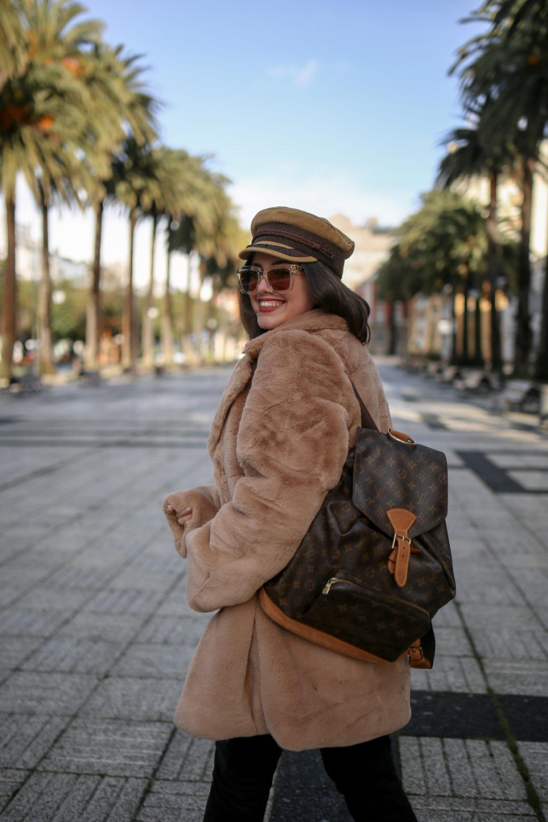 abrigo de pelo camel de rebajas